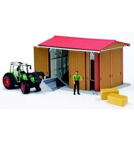 Bruder Bruder 62620 - Landbouwloods met Fendt 209S tractor en toebehoren
