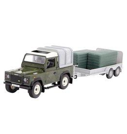 Bruder Britains 42836 - Land Rover met trailer en groene balen 1:16