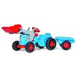 Rolly Toys Rolly Toys 630042 - RollyKiddy Classic tractor met voorlader en aanhanger - blauw