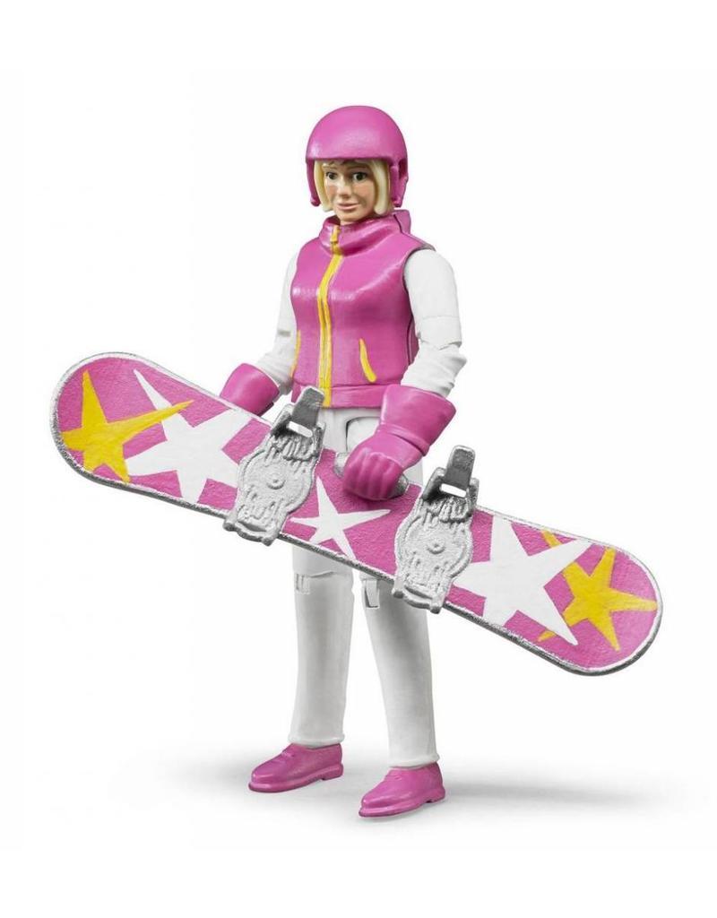 Bruder Bruder 60420 - Speelfiguur vrouw met snowboard
