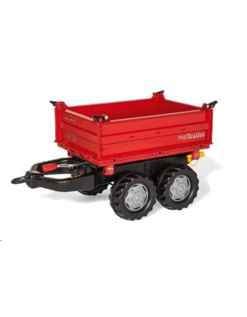 Rolly Toys Rolly Toys 123018 - Mega Trailer rood met grijze velgen