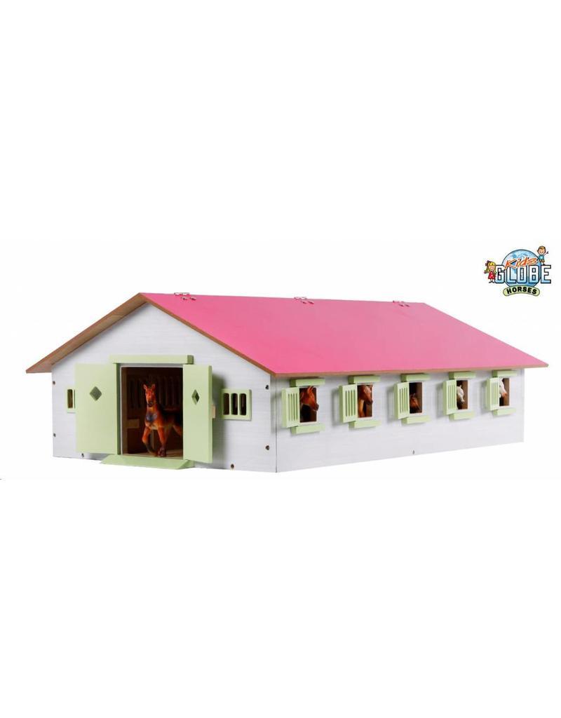 Kids Globe Kids Globe 610188 - Paardenstal met 9 boxen 1:32