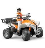 Bruder Bruder 63000 - Quad met bestuurder (oranje/wit)
