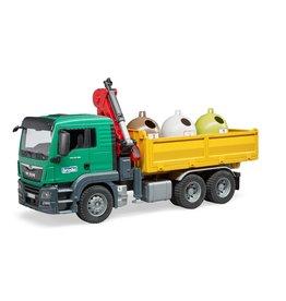 Bruder Bruder 3753 - MAN TGS met laadkraan en 3 afvalcontainers
