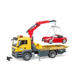 Bruder Bruder 3750 - MAN TGS Afsleepwagen met Light & Sound module en Roadster