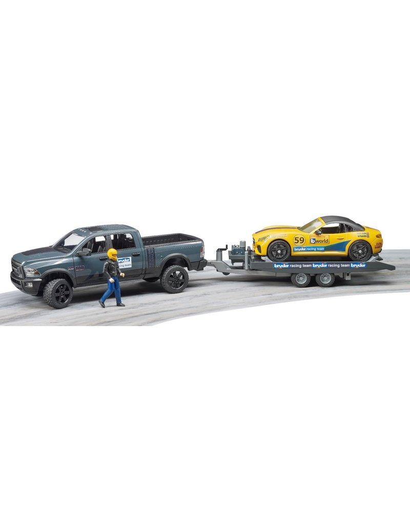 Bruder Bruder 2504 - RAM 2500 Power Wagon + Roadster Racing Team