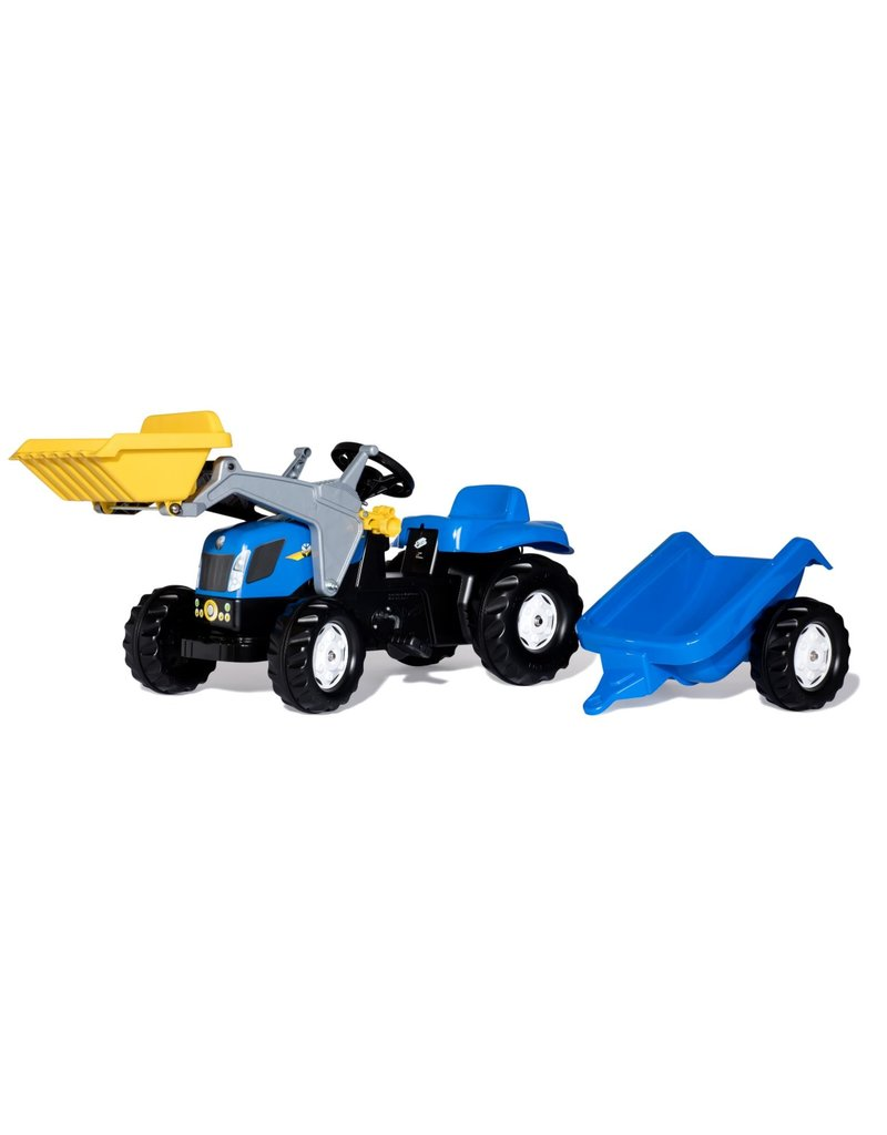 Rolly Toys Rolly Toys 023929 - RollyKid New Holland T 7040  met frontlader en aanhanger
