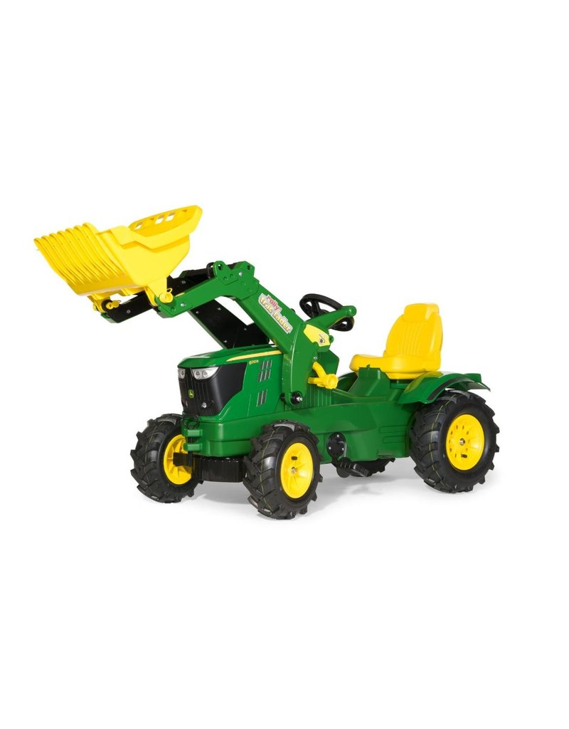 Rolly Toys Rolly Toys 611102 - John Deere 6210 R met Rolly Traclader en luchtbanden