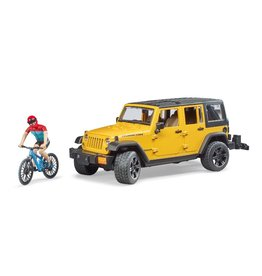 Bruder Bruder 2543 - Jeep Wrangler Rubicon Unlimited met mountainbike en speelfiguur