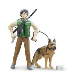 Bruder Bruder 62660 - Boswachter speelfiguur met hond