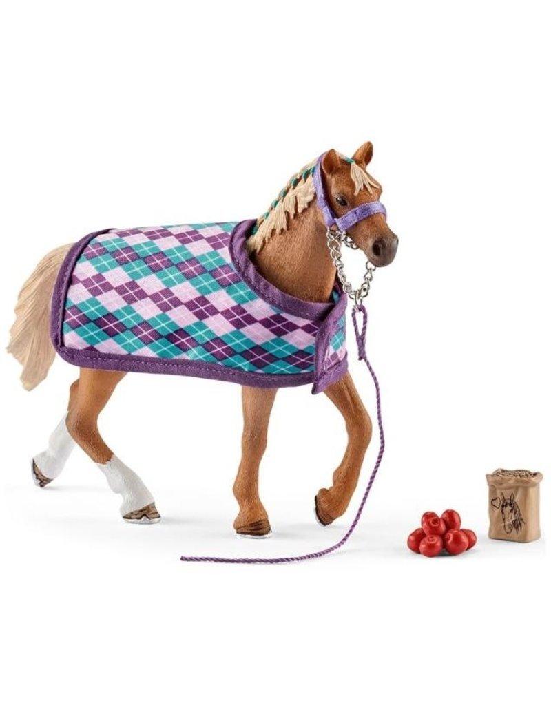 Schleich Schleich Horses 42360 - Engelse Volbloed met deken
