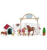 Schleich Schleich Horses 42458 - Hanna`s gastenverblijf met hondenhok