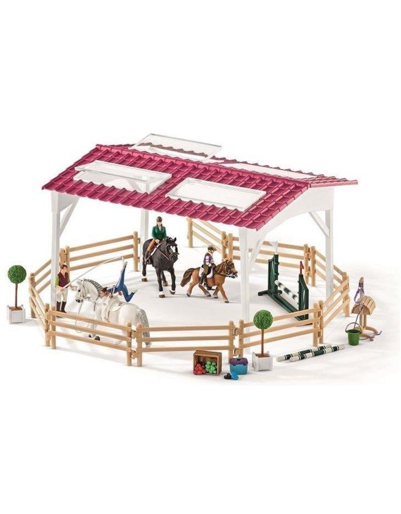 Schleich Schleich Horses 42389 - Ruiterschool met ruiter en paarden