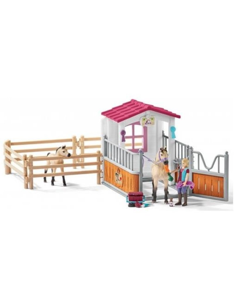 Schleich Schleich Horses 42369 - Paardenbox met Arabische Paarden en Verzorgster