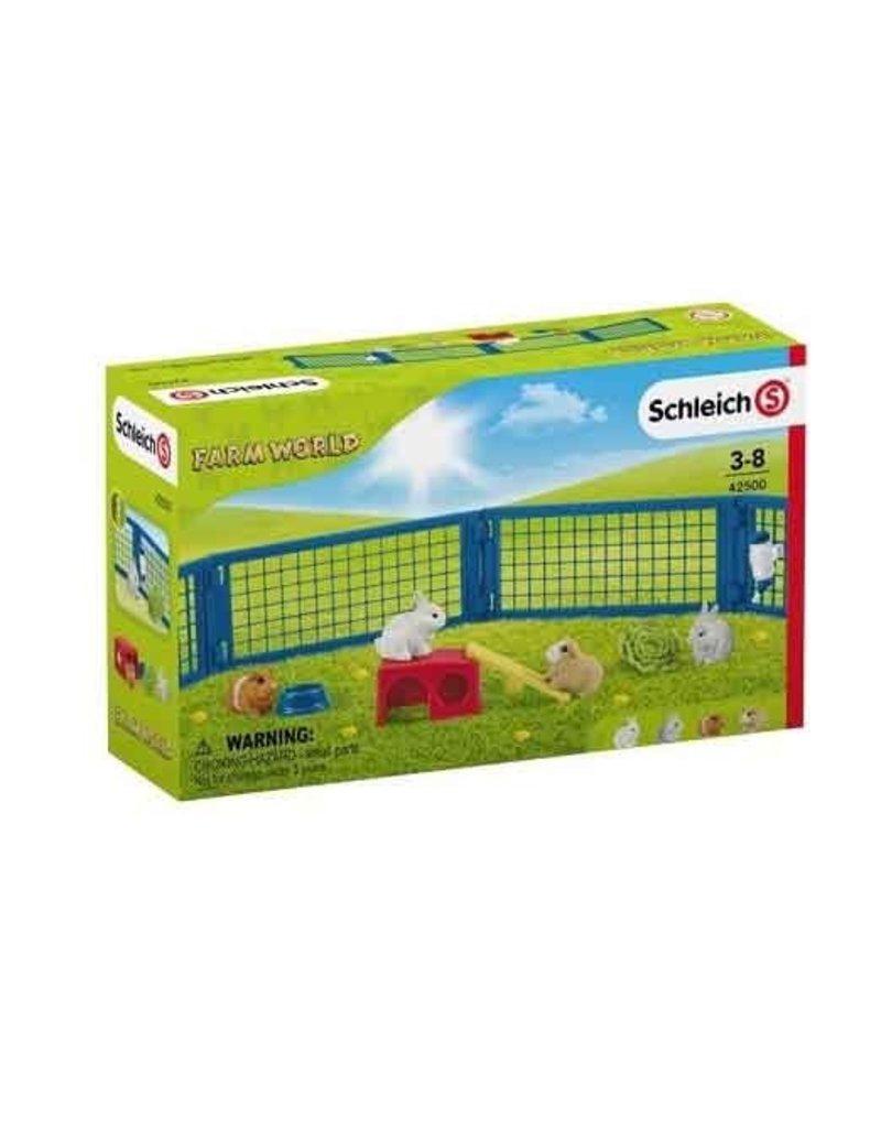 Schleich Schleich Farm 42500 - Hok met konijnen en cavia's