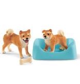 Schleich Schleich Farm 42479 - Shiba Inu moeder en pup