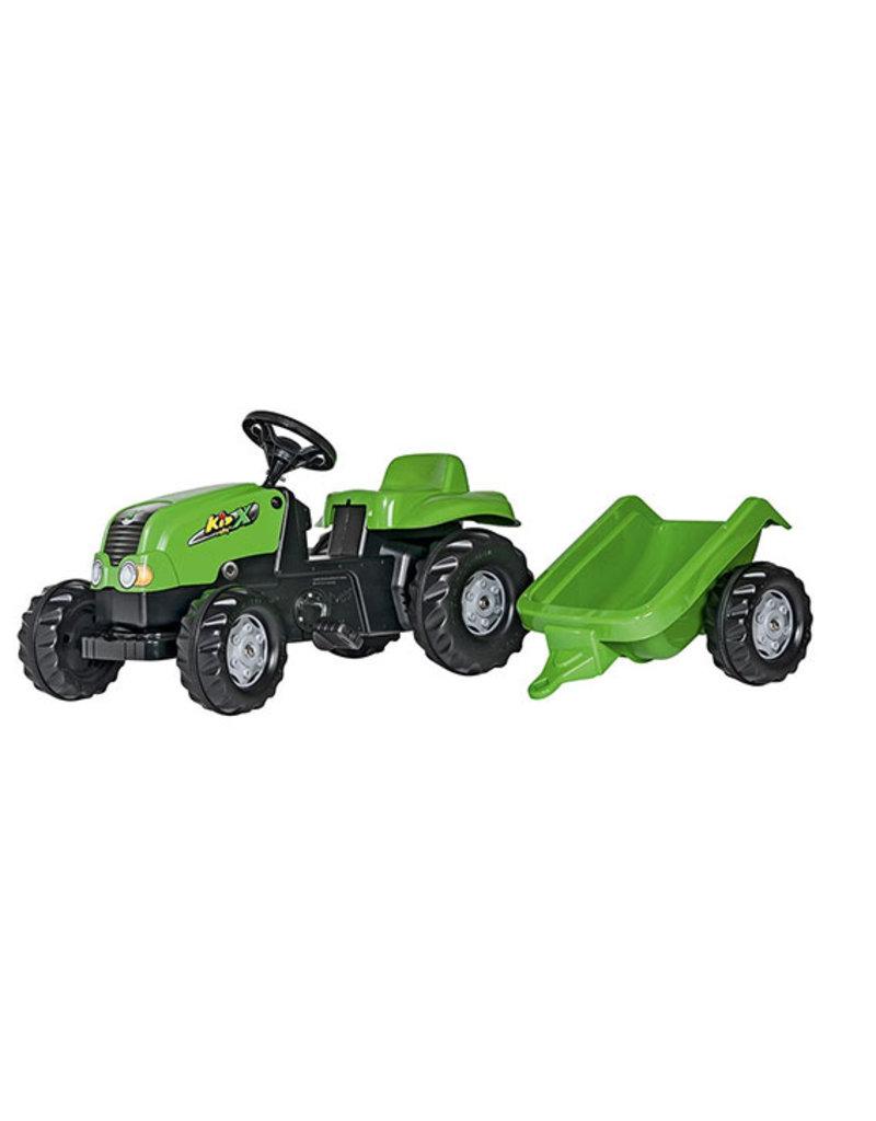 Rolly Toys Rolly Toys 012169 - RollyKid X met aanhanger groen