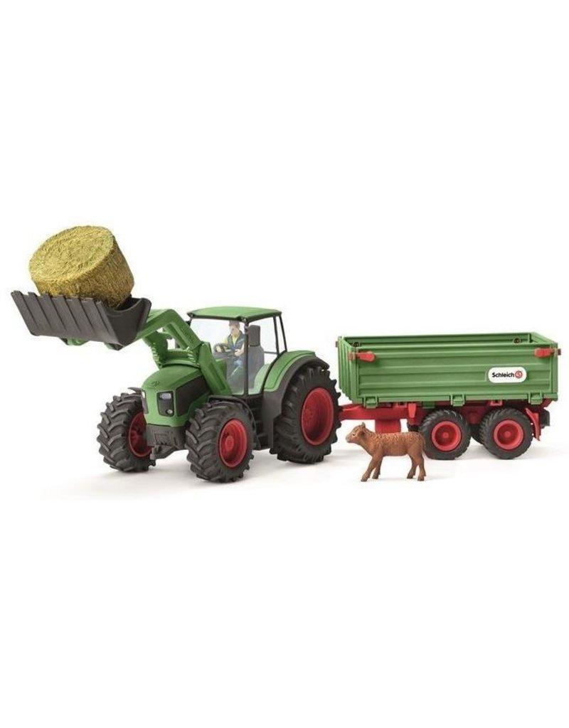 Schleich Schleich Farm 42379 -Tractor met aanhangwagen