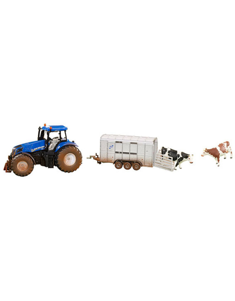 Siku Siku 8607 - New Holland T8.390 met veetrailer 1:32