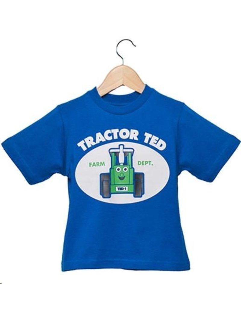 Tractor Ted - T-Shirt Blauw - 3-4 jaar