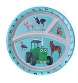 Tractor Ted - 3-vaks bord Bamboo kleine dieren
