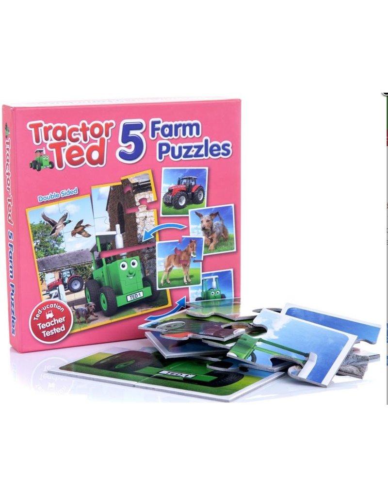 Tractor Ted - 5x stevige puzzel in 1 doos
