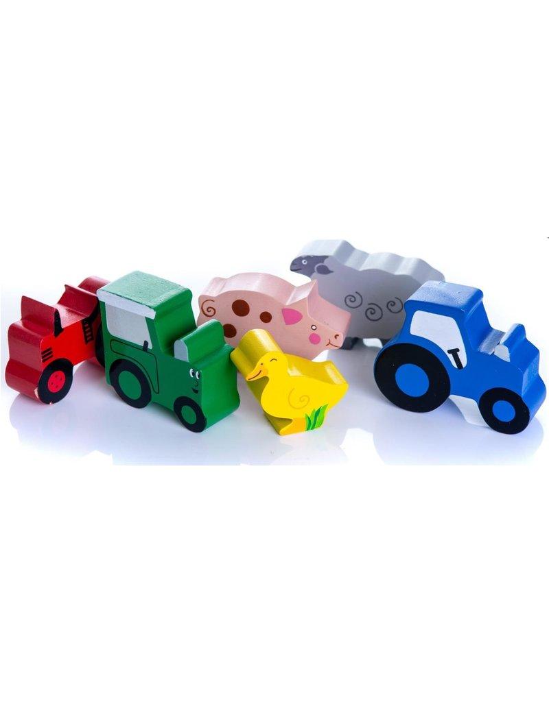 Tractor Ted - Houten speeltjes in doosje
