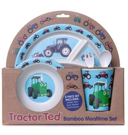 Tractor Ted - Giftset Bamboo Tractor: Beker, Bakje/Kom, 3 vaks bord met bestek