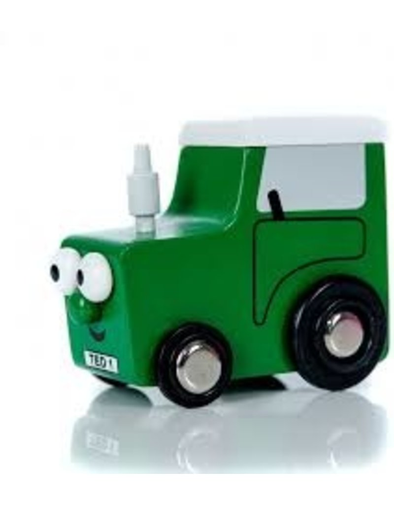 Tractor Ted - Mini houten tractor ted