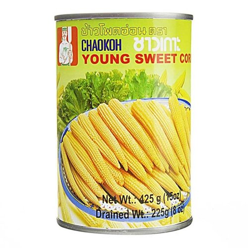 Chaokoh Young Corncobs, 425g