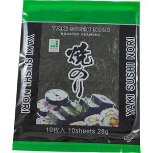Yaki Nori Sushi Leaves Green Quality, 28g
