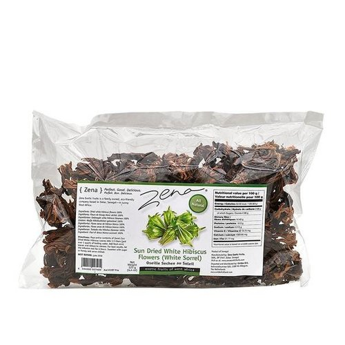Zena Dried White Hibiscus flowers (White Sorrel) 125g