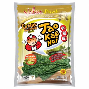 Tao Kae Noi Wasabi Seaweed Snack, 36g