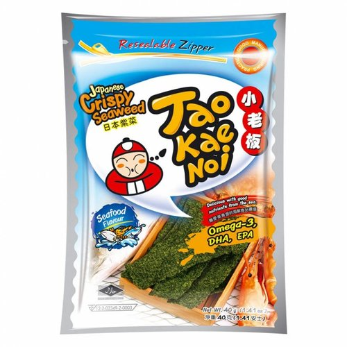 Tao Kae Noi Seafood Seaweed Snack, 32g