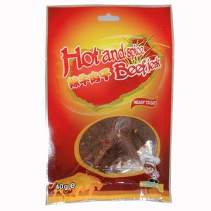 Sichuan Hot & Spicy Jerky Beef, 40g