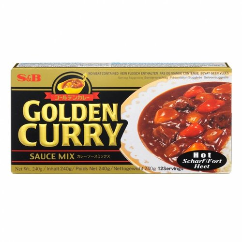 S&B Hot Golden Curry, 240g