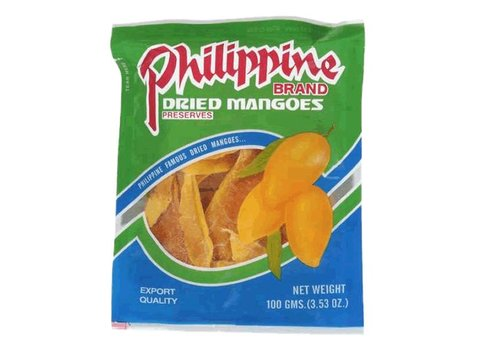 Philippine Brand Dried Mangoes, 100g
