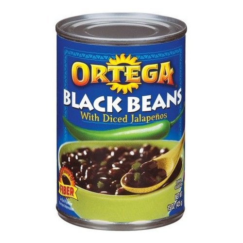 Ortega Black Beans With Diced Jalapenos, 425g