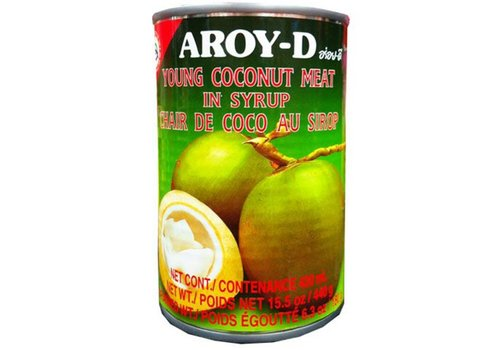 Aroy-D Young Coconut Meat in Syrup, 440g