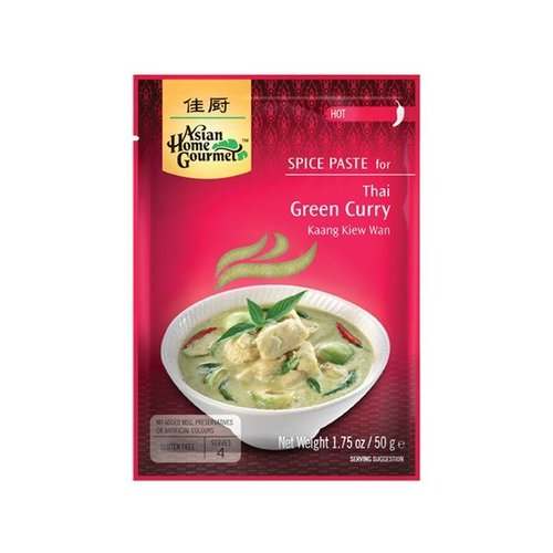 Asian Home Gourmet Green Curry Paste, 50g