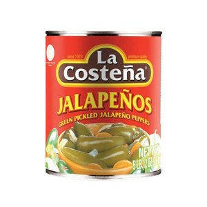 La Costena Whole Jalapenos, 2.6kg