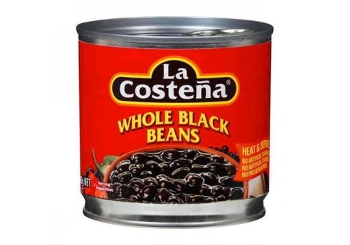 La Costena Whole Black Beans, 400g
