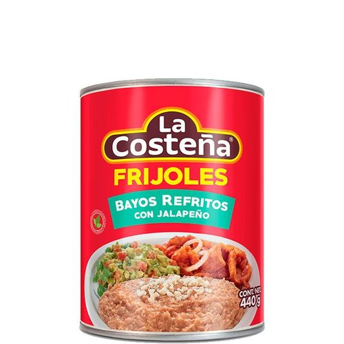 La Costena Refried Pinto Beans with Jalapeno, 440g