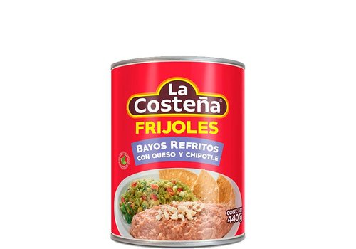 La Costena Refried Pinto Beans Cheese & Chipotle, 440g