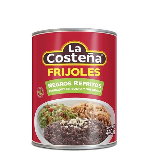 La Costena Refried Black Beans Fat Free, 440g