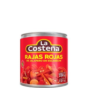 La Costena Red Sliced Jalapenos, 220g