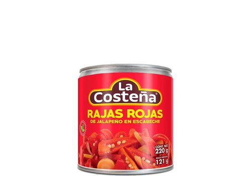 La Costena Red Sliced Jalapenos, 220g