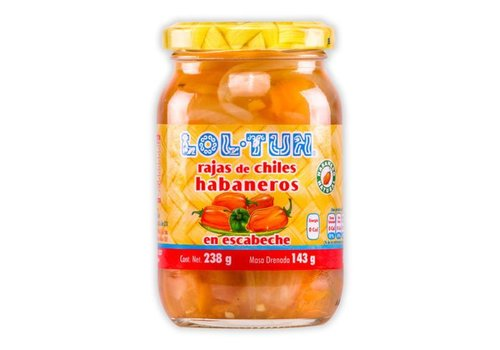 Lol Tun Sliced Habaneros, 238g