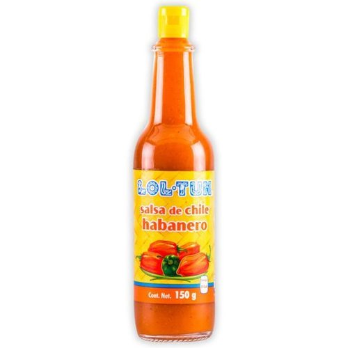 Lol Tun Salsa de Chile Habanero Rojo, 150g