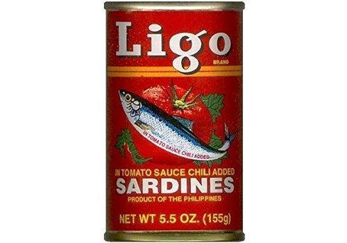 Ligo Sardines in Hot Tomato Sauce, 155g
